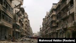 Pamje nga shkatërrimet nga lufta në Siri