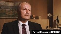 Хенн Пиллуаас під час спілкування з журналістами Радіо Свобода