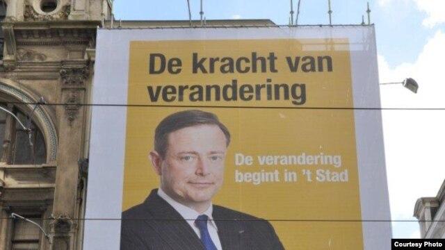 Выступающий за независимость Фландрии лидер «Нового фламандского альянса» Барт де Вейвер на предвыборном плакате