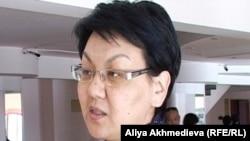 Фатима Жакыпова, первый проректор Жетысуского государственного университета. Талдыкорган, 18 апреля 2011 года.