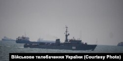 Конвой з російських кораблів у Керченській протоці