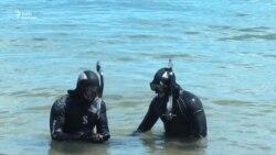 В Черном море тренировались украинские нацгвардейцы-подводники (видео)