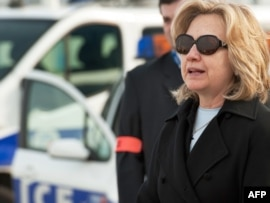 U.S. Secretary of State Hillary Clinton, pictured here on March 14 in Paris