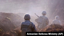 Armenia -- Armenian soldiers take their position on the front line in Tavush region, July 14, 2020