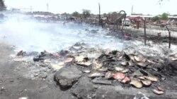 Blaze Destroys Fruit Market In Pakistan