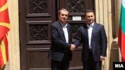 Средба на премиерите на Македонија и Бугарија, Никола Груевски и Пламен Орешарски во Ќустендил, Бугарија.