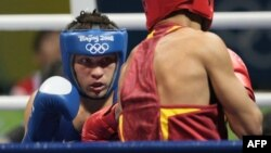 Ukrainian boxer Serhiy Derevyanchenko (file photo)