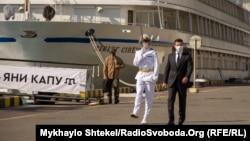 Президент України Володимир Зеленський на урочистостях з нагоди Дня ВМС в Одесі, 5 липня 2020 року