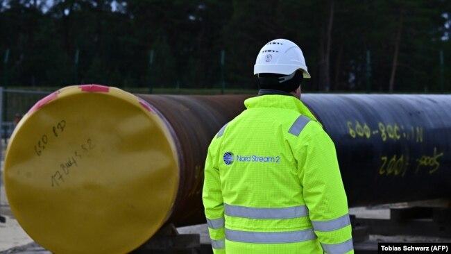 Строительство трубопровода в Любмине, Германия