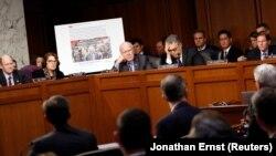 Одно из слушаний в Сенате Конгресса США в ходе расследования российского вмешательства в американские выборы.