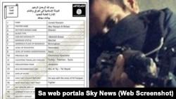 Копия анкеты для новобранцев экстремистской группировки «Исламское государство» (ИГ), показанная в эфире британского телеканала Sky News.