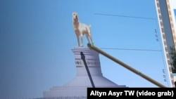 Президент Туркменистана распорядился установить монумент собаки породы алабай.