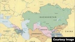 Карта Центральной Азии и Кавказа.