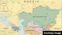 نقشه آسیای مرکزی