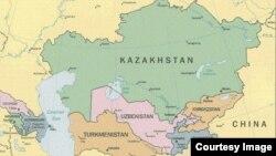 Орталық Азия картасы.