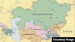 Карта стран ЦА.