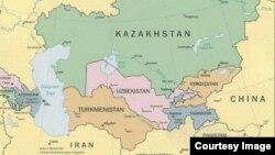 Карта Средней Азии.