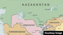 Карта Центральной Азии. Иллюстративное фото.