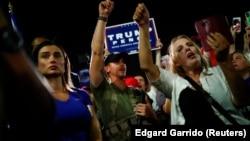 Donald Trump elnök támogatói tüntetnek amerikai idő szerint szerda éjszaka
