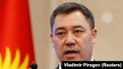 Исполняющий обязанности президента Кыргызстана Садыр Жапаров.