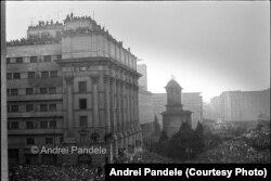 22 decembrie 1989, ora 16:00, rază de soare văzută din sediul Comitetului Central