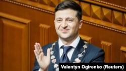 Ուկրաինա - Վլադիմիր Զելենսկին երդմնակալության արարողության ժամանակ, Կիև, 20-ը մայիսի, 2019թ․