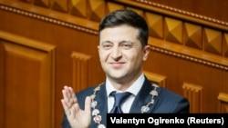 Владимир Зеленский инаугурация вакытында, 20 май 2019