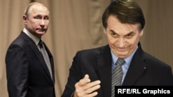 Владимир Путин и Жаир Болсонару, коллаж