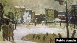"""""""На Патриарших"""", картина А. Дейнеки (1942)"""