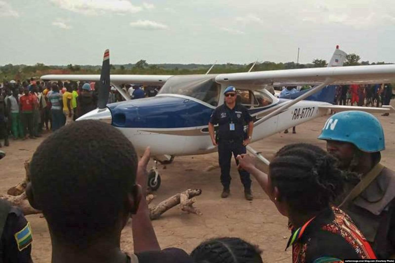 Cessna RA-67717 в Кага-Бандоро, ЦАР