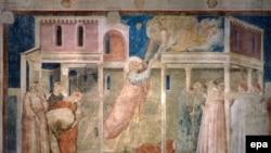 Фрески Джотто ди Бондоне в храме Святого Креста (Санта-Кроче) во Флоренции.