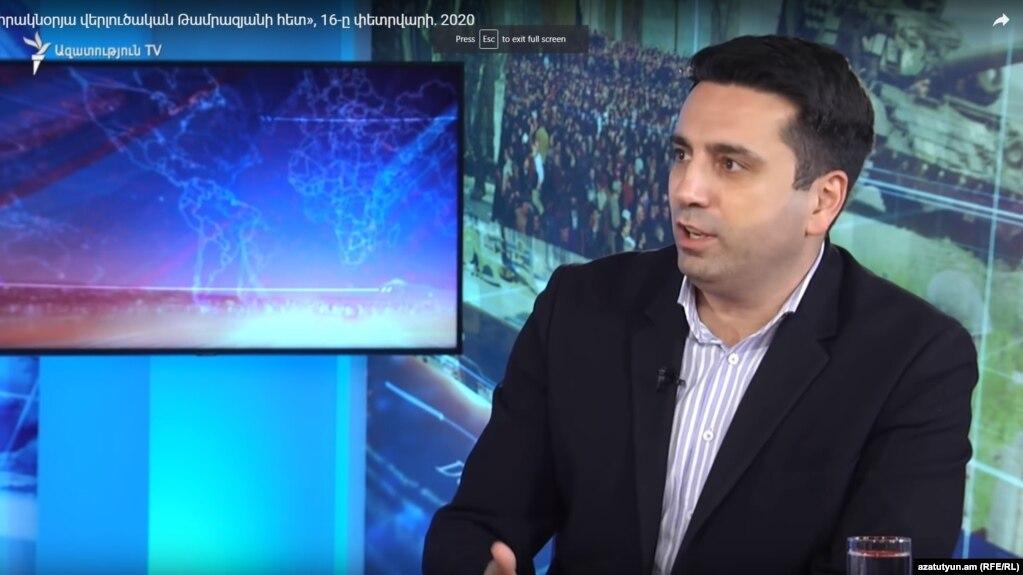 Ален Симонян не считает, что после статьи Тер-Петросяна информационная атака на власти прекратится