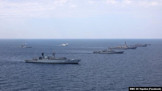 Військові навчання Sea Breeze у Чорному морі. Одеса, Україна. 2020 рік