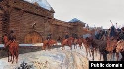 Картина Василя Максимова «Татаро-монголи під стінами Володимира»
