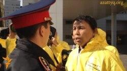"""В Астане протестуют против запусков """"Протона"""""""