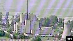 A TV grab shows North Korea's nuclear facilities in Yongbyun