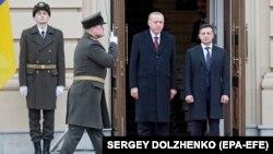 Эрдўғон ва Зеленский, Киев, 2020 йил 3 феврали.