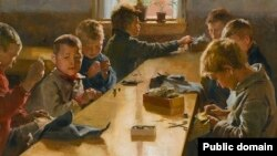 Альбэрт Эдэльфэльт, «Хлапечая майстэрня» (1885)