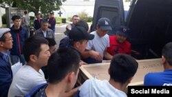 Отправка тела погибшей девушки в Кыргызстан.