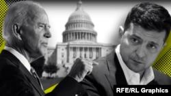Joseph Biden (soldan) ve Volodımır Zelenskıy