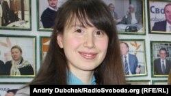 Тетяна Чорновіл після ефіру на Радіо Свобода, січень 2012 року