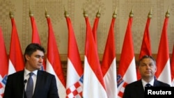 Zoran Milanović, tada premijer Hrvatske, sa mađarskim kolegom Viktorom Orbanom, prilikom susreta u Budapešti, 7. maja 2012. godine.