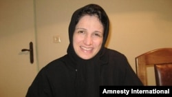 Jailed lawyer Nasrin Sotoudeh (in an undated photo) began her hunger strike on October 31.