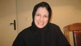Nasrin Sotoudeh is in the fourth week of a hunger strike. (file photo)