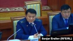 Кандидат на должность генпрокурора Откурбек Джамшитов. 25 апреля 2018 года.