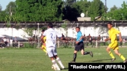 Tajikistan,Dushanbe -- from the football team Khair (Vahdat), 12May2011