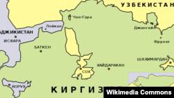 Кыргызстандагы анклавдар: Сох, Шахимардан, Чоң-Кара, Халмион, Ворух, Карагач (картаны басып чоңойтуңуз)