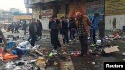 آثار تفجير في بغداد