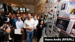 Aleksandar Vučić na izložbi