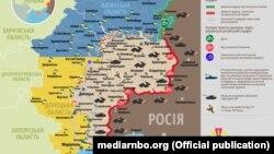 Ситуація в зоні бойових дій на Донбасі, 26 серпня 2017 року